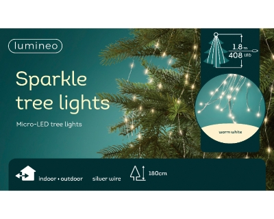 MICRO LED TREE LIGHTS INDOOR OR OUTDOOR 180CM WARM WHITE