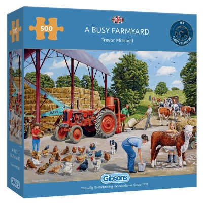 A BUSY FARMYARD 500 PIECE PUZZLE