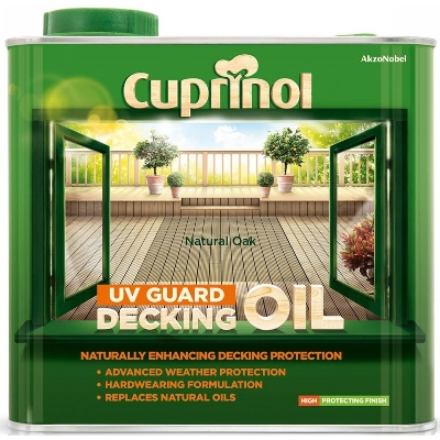 CUPRINOL UV GARDEN DECK OIL NAT OAK 5L