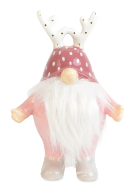 FOREST GNOME PINK GREY 14.5CM