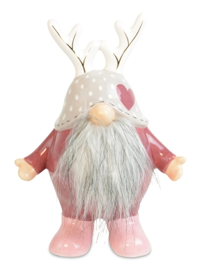 FOREST GNOME PINK GREY 21.5CM