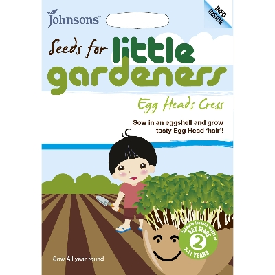 JOHNSONS LITTLE GARDENERS SEEDS EGG HEADS CRESS
