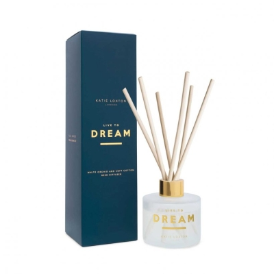 KATIE LOXTON SENTIMENT REED DIFFUSER LIVE TO DREAM WHITE ORCHID AND SOFT COTTON