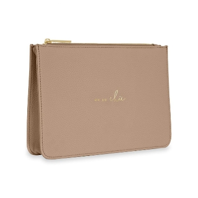 KATIE LOXTON STYLISH STRUCTURED POUCH OH SO CHIC TAUPE