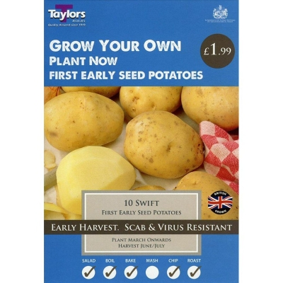 TAYLORS SWIFT X10 FIRST EARLY SEED POTATOES