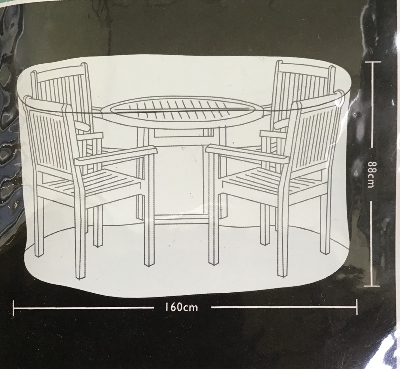 TOM CHAMBERS PRESTIGE CIRCULAR PATIO SET 4 SEATS