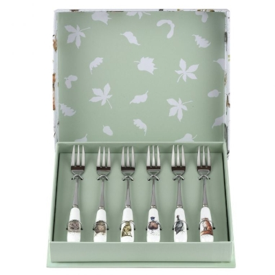 Wrendale Royal Worcester Set of 6 Pastry Forks