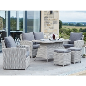 STONE GREY BARBADOS 2 SEATER RELAXED DINING SET