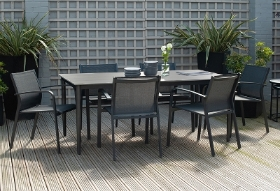 KOBE DINING SET ANTHRACITE