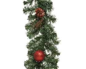 DECORATIVE ARTIFICIAL BAUBLE GARLAND RED 180CM