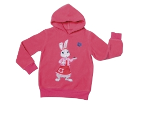 LILY BOBTAIL PINK HOODIE AGES 3 TO 6
