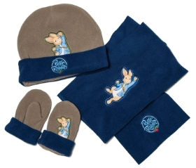 PETER RABBIT HAT GLOVE AND SCARF SET ONE SIZE