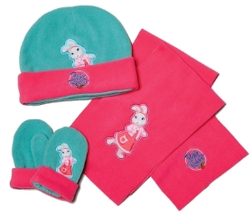 LILY BOBTAIL HAT GLOVE AND SCARF SET