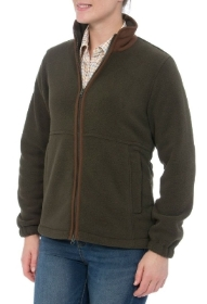 Alan Paine Aylsham Ladies Fleece Jacket In Green   Classic Fit