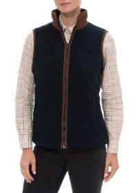 Alan Paine Aylsham Ladies Fleece Waistcoat In Dark Navy   Classic Fit