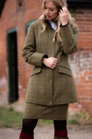 Alan Paine Combrook Ladies Tweed Field Jacket In Gorse