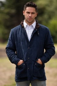 Alan Paine Felwell Men's Quilted Jacket In Dark Navy   Classic Fit
