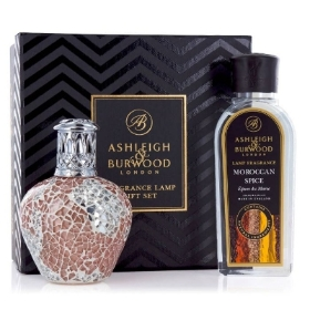 ASHLEIGH & BURWOOD FRAGRANCE LAMP GIFT SET APRICOT SHIMMER AND MOROCCAN SPICE