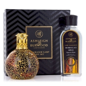 ASHLEIGH & BURWOOD FRAGRANCE LAMP GIFT SET GOLDEN SUNSET AND MOROCCAN SPICE