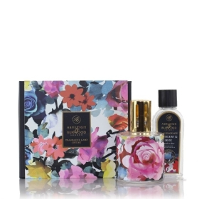ASHLEIGH AND BURWOOD FRAGRANCE LAMP GIFT SET IN BLOOM TAYBERRY AND ROSE