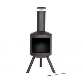 BAROLA CONTEMPORARY STEEL CHIMINEA