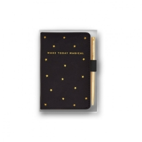 BEAUTIFULLY BOXED MINI NOTEBOOK AND PEN SET MAKE TODAY MAGICAL BLACK
