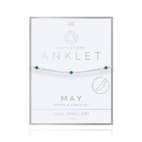 BIRTHSTONE ANKLET MAY GREEN AGATE