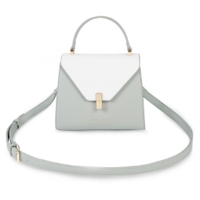 CASEY TOP HANDLE BAG GREY AND WHITE
