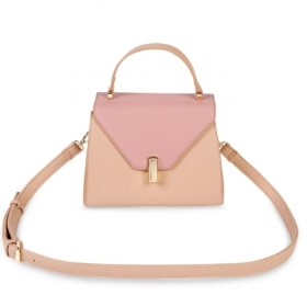 CASEY TOP HANDLE BAG PALE PINK AND DARK PINK