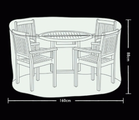 CIRCULAR PATIO SET COVER 4 SEATS
