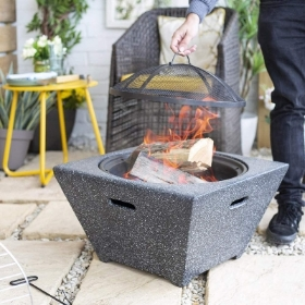 COPENHAGEN MAGNESIA FIREPIT WITH GRILL