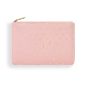 GOLD PRINT PERFECT POUCH FABULOUS FRIEND PINK