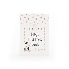 Jellycat Baby's First Bashful Puppy Photo Cards