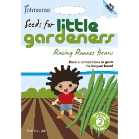 JOHNSONS LITTLE GARDENERS SEEDS RACING RUNNER BEANS