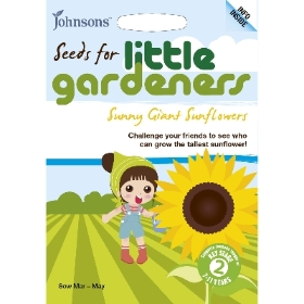 JOHNSONS LITTLE GARDENERS SEEDS SUNNY GIANT SUNFLOWERS