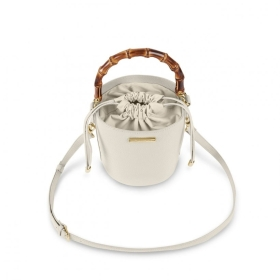 JOURDAN CYLINER BAMBOO BAG OFF WHITE