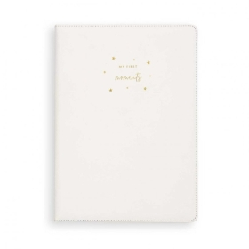 KATIE LOXTON A4 BABY KEEPSAKE BOOK MY FIRST MOMENTS WHITE