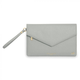 KATIE LOXTON ESME ENVELOPE CLUTCH BAG GREY