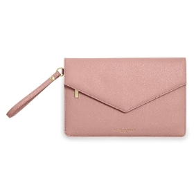 KATIE LOXTON ESME ENVELOPE CLUTCH BAG PINK