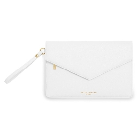 KATIE LOXTON ESME ENVELOPE CLUTCH BAG WHITE