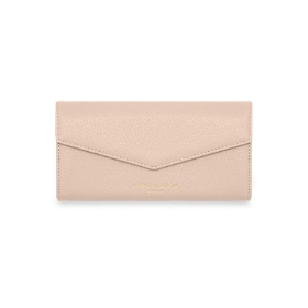 KATIE LOXTON ESME ENVELOPE PURSE GIRLS JUST WANNA HAVE FUNDS NUDE PINK