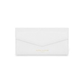 KATIE LOXTON ESME ENVELOPE PURSE SHOP TIL YOU DROP WHITE