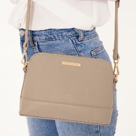 KATIE LOXTON HARPER CROSS BODY BAG TAUPE