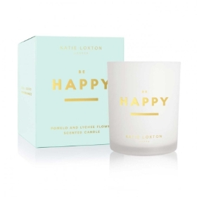 KATIE LOXTON SENTIMENT CANDLE BE HAPPY POMELO AND LYCHEE FLOWER