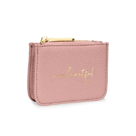 KATIE LOXTON STYLISH STRUCTURED COIN PURSE HELLO BEAUTIFUL PINK
