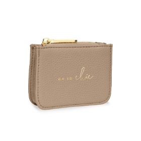 KATIE LOXTON STYLISH STRUCTURED COIN PURSE OH SO CHIC TAUPE