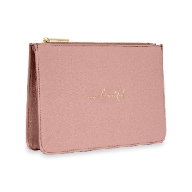 KATIE LOXTON STYLISH STRUCTURED POUCH HELLO BEAUTIFUL PINK
