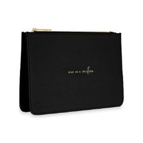 KATIE LOXTON STYLISH STRUCTURED POUCH ONE IN A MILLION BLACK