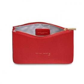 KATIE LOXTON STYLISH STRUCTURED POUCH SO VERY MERRY RED