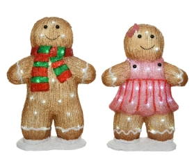 LED GINGERBREAD 2 DESIGNS OUTDOOR OR INDOOR 46CM